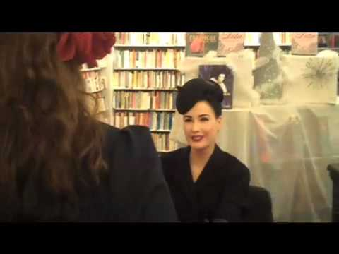 Dita Von Teese Book Signing at Samuel French!