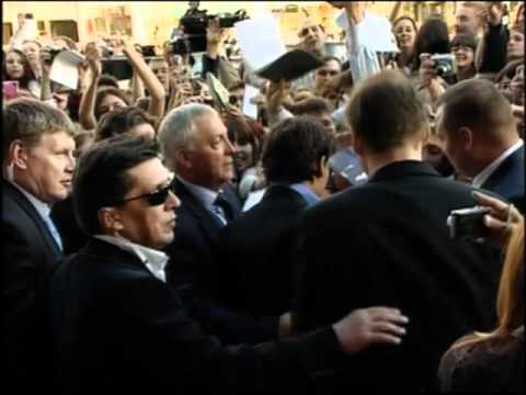 Johnny Depp & Penelope Cruz in Moscow For Pirates of the Caribbean 4 Movie Premiere
