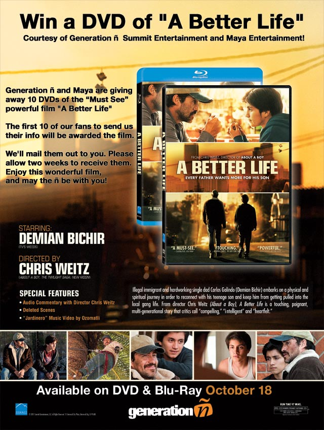 'A Better Life' DVD giveaway