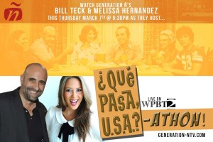 Meli Hernandez & Bill Teck host ,Que Pasa USA on CH 2 this Thur from 9:30 to 11!!