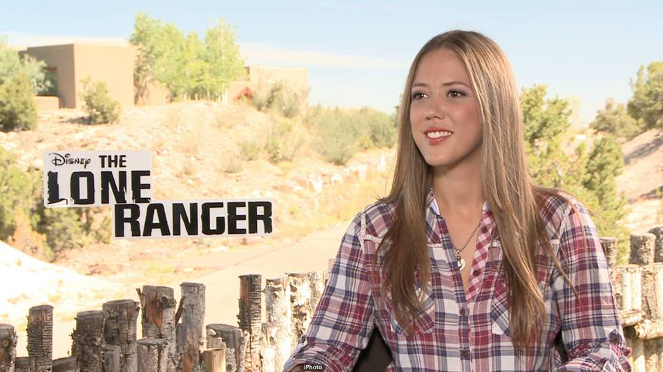 Melissa Hernandez on the set of The Lone Ranger