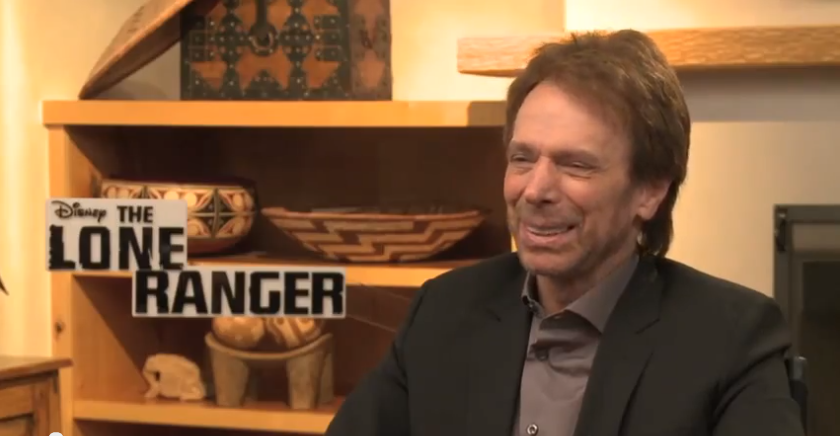 The Lone Ranger producer Jerry Bruckheimer chats a bit with Melissa Hernandez