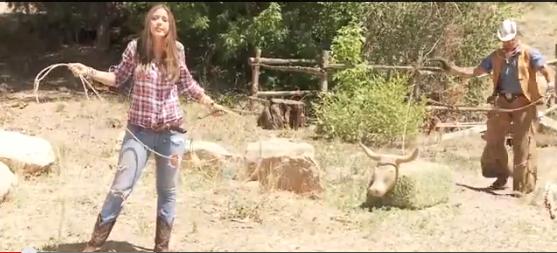 Meli Hernandez on the New Mexico set of Disney's The Lone Ranger
