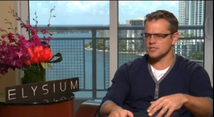 Matt Damon and Mel Hernandez chat about Elysium and his relationship with Ben Affleck.