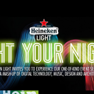 Check out what our friends at Heineken have come up to Light Your Night during Art Basel