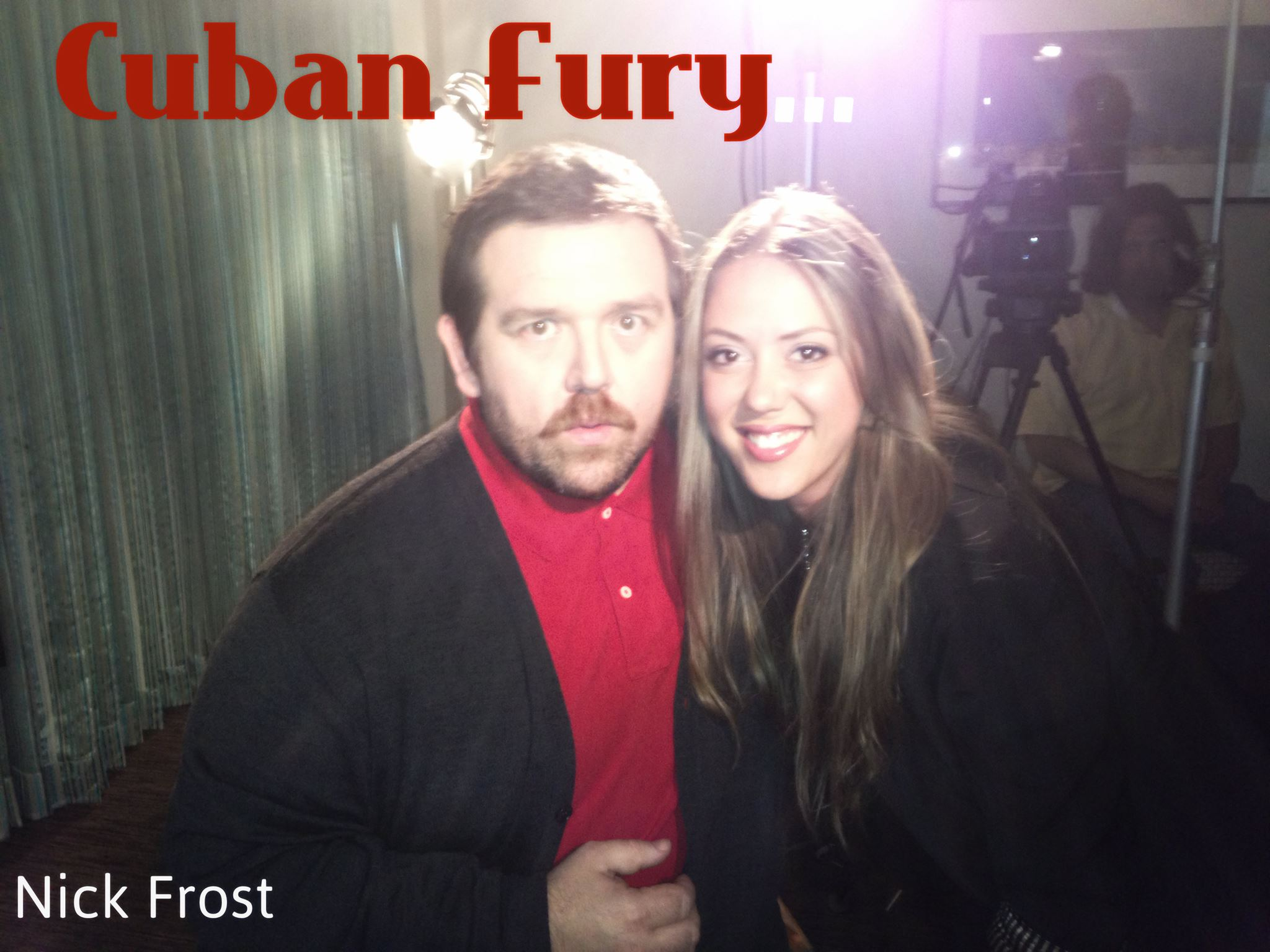 "Nick Frost shakes his ""Latin"" tail feather in Cuban Fury"