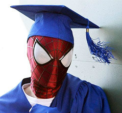 GRADUATES: SPIDERMAN gives advice…