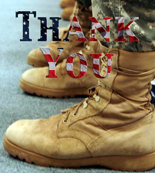 Thanks Veterans! Thank You for your Service on Veterans Day