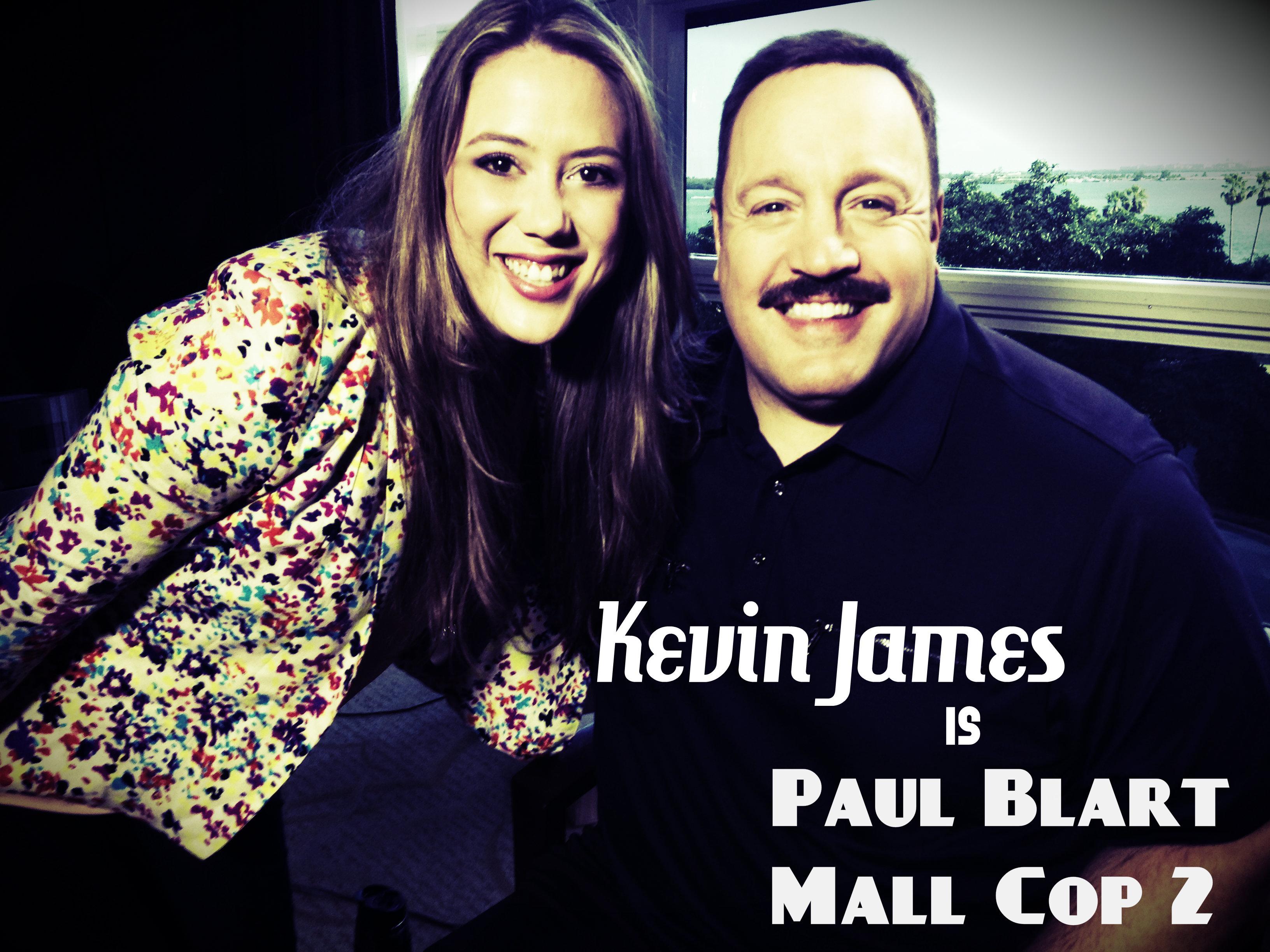 Kevin James talks to Meli Hernandez de Paul Blart Mall Cop 2
