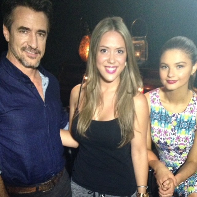 Meli w/ the cast of Insidious Chapter3: Dermot Mulroney & Stefanie Scott!