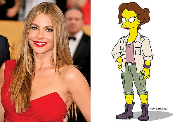 Sofia Vergara on Season 27 of The Simpsons