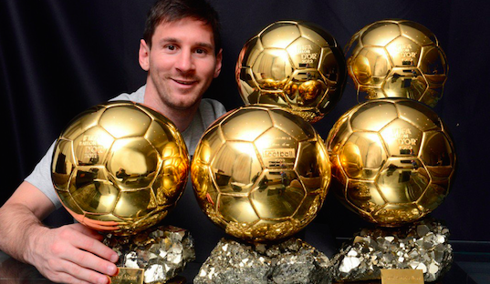Lionel Messi Wins Fifth Ballon d'Or