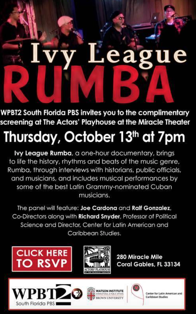 Joe Cardona: Ivy League Rumba screening and Q & A