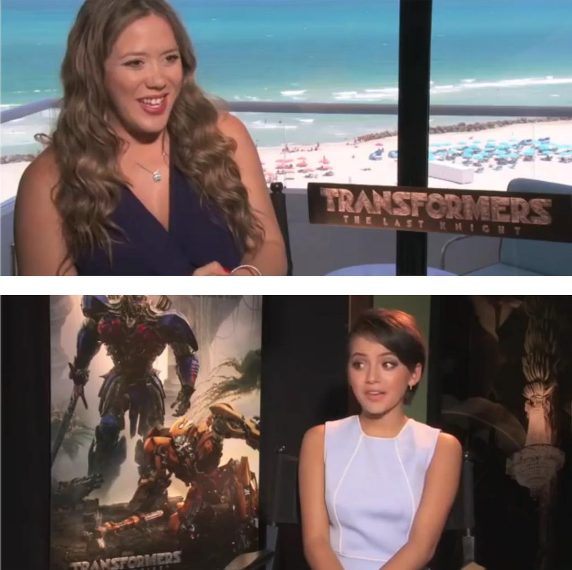 Meli chats with Isabela Moner fromTransformers!