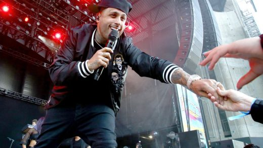 WANTAGH, NY - JUNE 03:  Nicky Jam performs onstage at KTUphoria 2017 at Nikon at Jones Beach Theater on June 3, 2017 in Wantagh, New York.  (Photo by Paul Zimmerman/WireImage)
