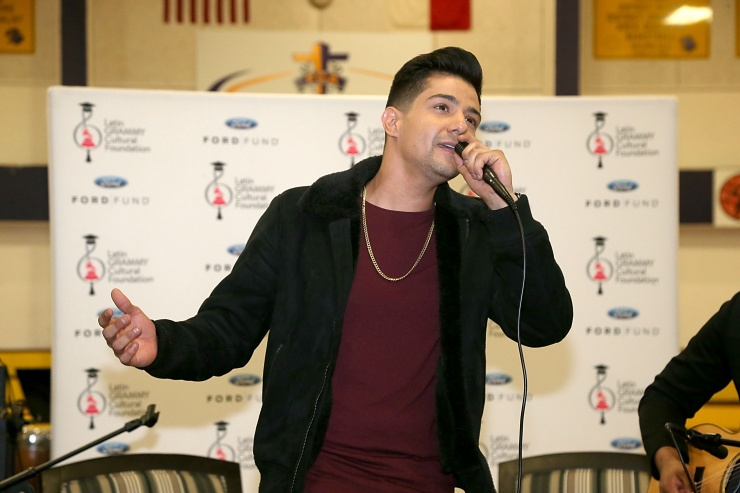 Luis Coronel Donates $20000 with Latin Grammy Foundation