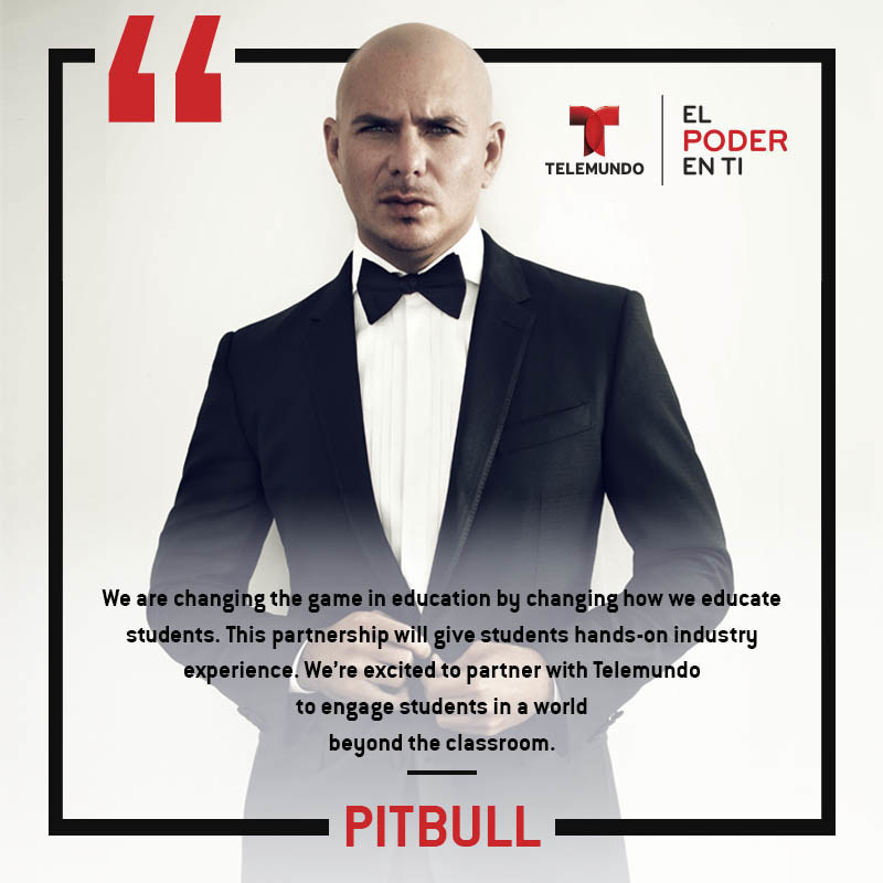 Pitbull Partners With Telemundo Academy