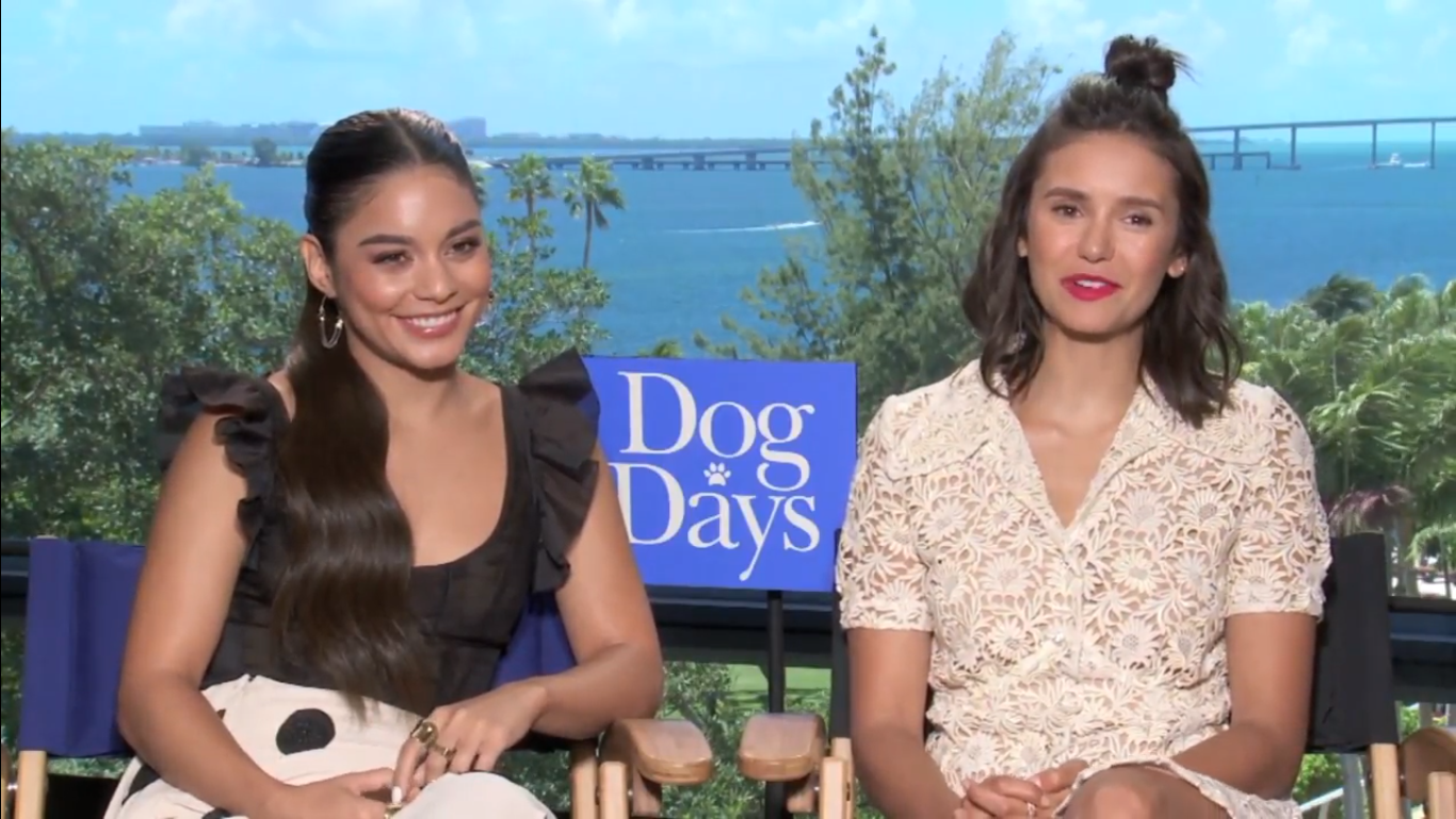 VANESSA HUDGENS, NINA DOBREV FOR DOG DAYS!