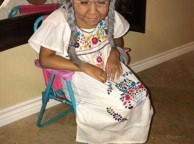 Little Girl Dressed Like Mama Coco!!