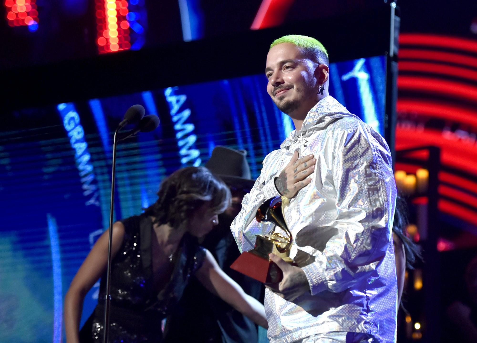J Balvin Opens The Grammys