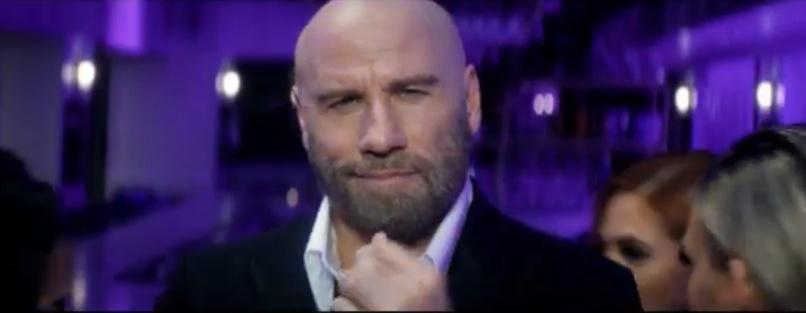 "John Travolta In Pitbull's ""3 to Tango"" Music Video"