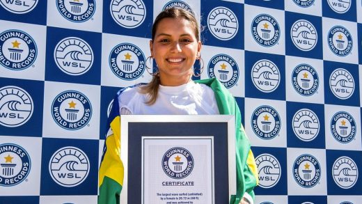Brazilian Surfer Breaks World Record